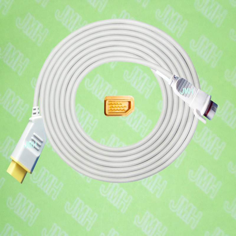 Compatible with Nihon Kohden BSM3200 /4100/5100/9510/9800/1500 the BD IBP transducer Adapter cable,14pin to 7pin.Compatible with Nihon Kohden BSM3200 /4100/5100/9510/9800/1500 the BD IBP transducer Adapter cable,14pin to 7pin.