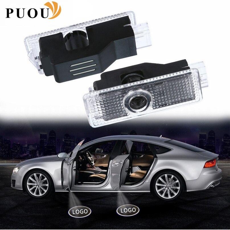 2x дверь логотипа автомобиля светильник светодиодный проектор Тень Добро пожаловать светильник аксессуары наклейка для Audi A4 B6 B8 B7 A6 C5 C6 C7 A3 A5 ...