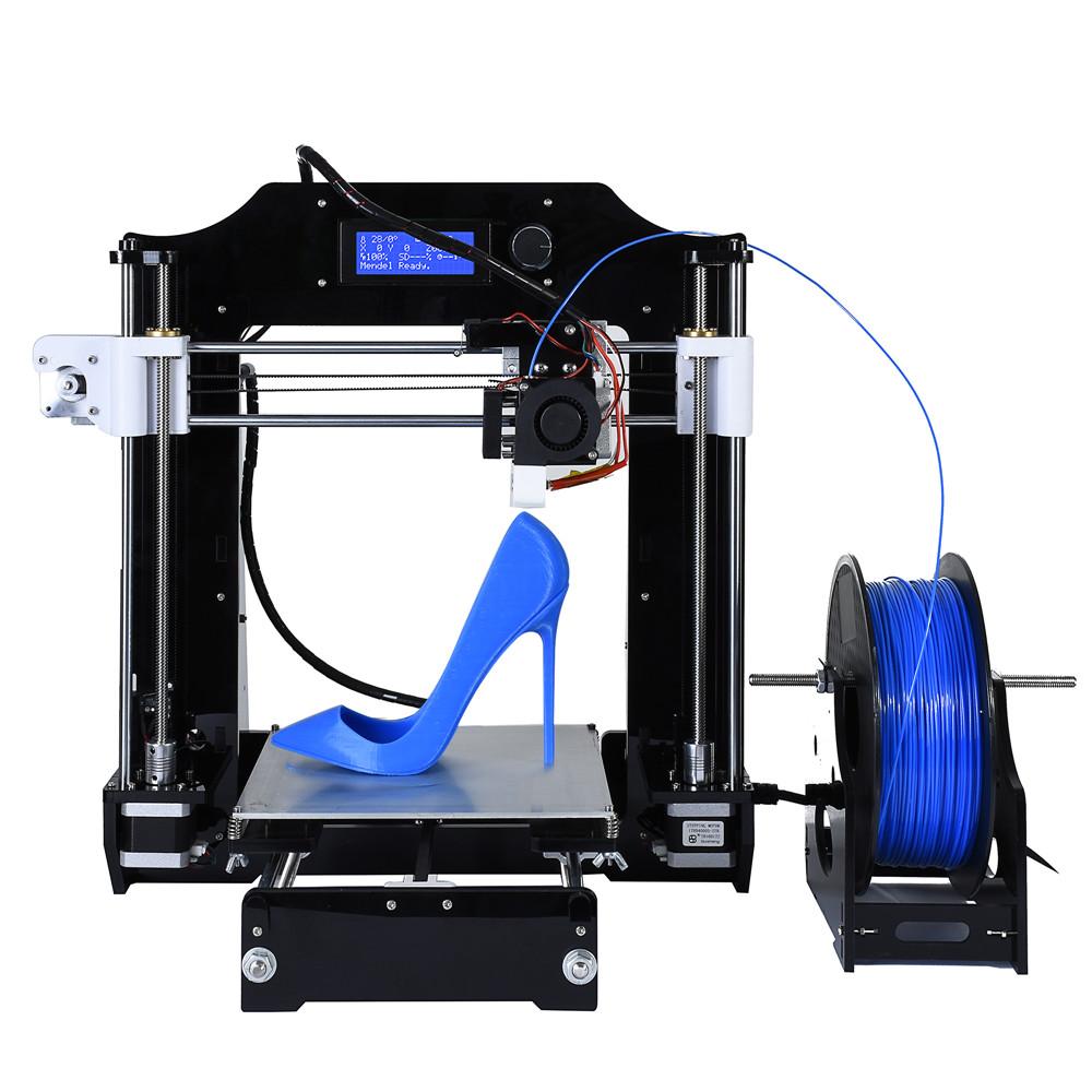 Prix pour Date amélioré reprap prusa i3 3d imprimante kits de haute qualité de bureau CNC Complet couleurs 3d imprimante avec 1 Rouleau filaments STL Fichiers