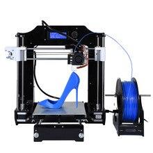 Más reciente Mejorado Reprap Prusa i3 kits de Impresora 3D de Escritorio de Alta Calidad CNC Completo colores 3d impresora con 1 filamentos Rollo Archivos STL