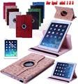 Бесплатная доставка 360 Маленькая Ведьма PU Кожаный Вращающийся Case Смарт Стенд для ipad mini 123 Tablet Case Leather