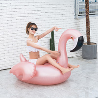 Inflatable Flamingo Bathing Beach Toy Pool Floats Raft Swimming Ring Circle Water Bed Boia Piscina Adults Party Toys