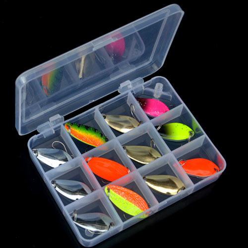 Dixiprolure  13pcs  2.5g 3.5g 4.5g 5g  Brass Spinning Spoons Pesca Micro Metal Lures Area Trout Fishing Ultralight