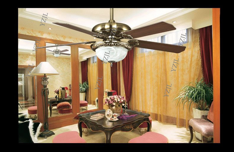 Ceiling Fans For Dining Area: European Fans Ceiling Retro Fan Light 52inch Fashion