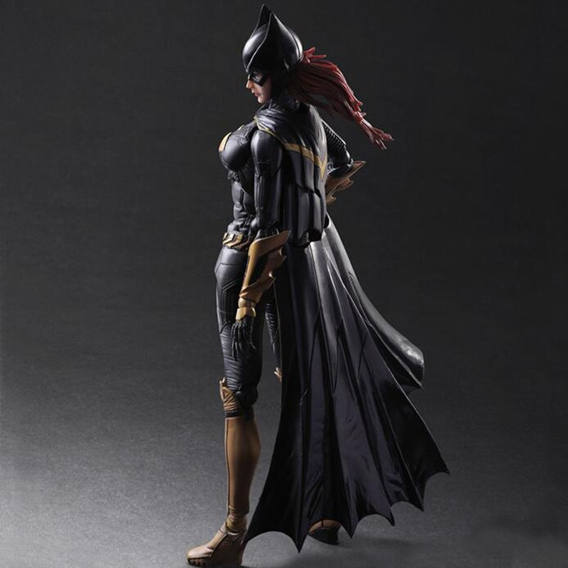newest anime cartoon PlayArts KAI Batman Arkham Knight Batgirl Variant PVC Action Figure Colletible Model Toy T5777 playarts kai batman arkham knight batman blue limited ver superhero pvc action figure collectible model boy s favorite toy 28cm