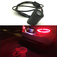 Car Laser Tail Logo Led Light Anti Collision Rear-end Fog Light Rearing Warning forJeep Buick Kia Hyundai Citroen Peugeot Jaguar