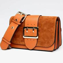 2017 mode frauen Aus Echtem Leder Nubukleder Schultertasche Luxus Designer Beliebte Crossbody Abdeckung Taschen Frauen Messenger Bags