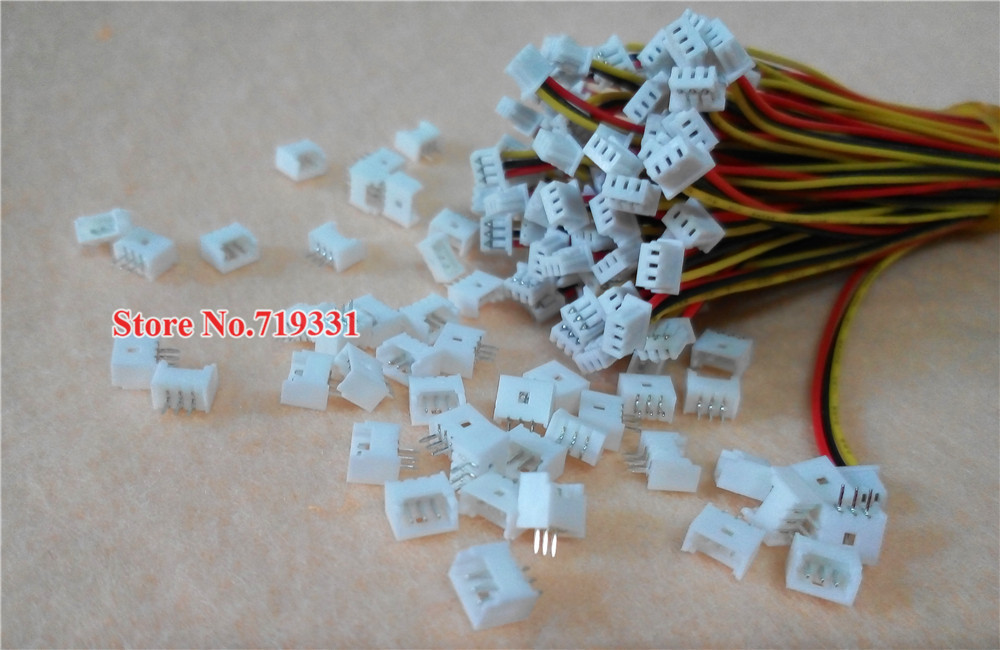 1000 set Micro JST 1.25 3 Pin Connector plug Male Female Connector ...