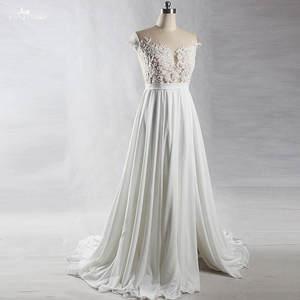 f04f1676dfc7 Yiaibridal Real Pregnant Back Chiffon Beach Wedding Dress