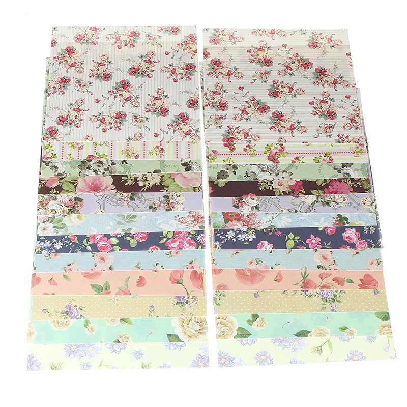 New Arrival 24 Sheets 15x15cm Assorted Floral Folding