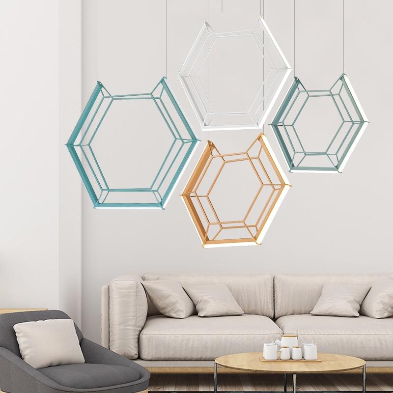 Art blanc chaud 15 w 24 w 30 w LED blanc/noir/vert fer suspension lampe salle à manger cuisine bar café personnalité pendentif LED