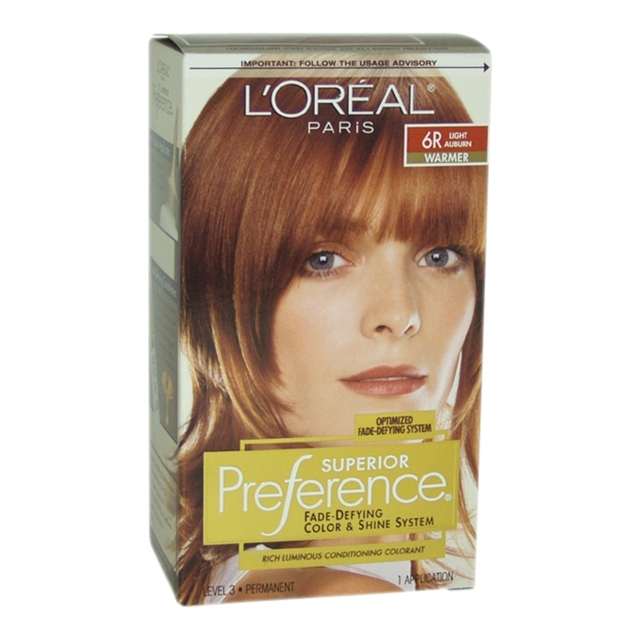 Superior Preference Fade Defying Color 6r Light Auburn Warmer By L Oreal