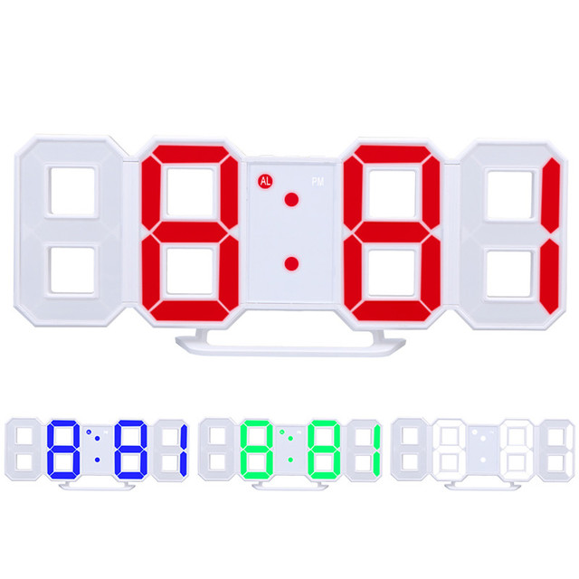 digital led table clock brightness adjustable modern electronic rh aliexpress com Blank Clock Clip Art Cartoon Clock Clip Art
