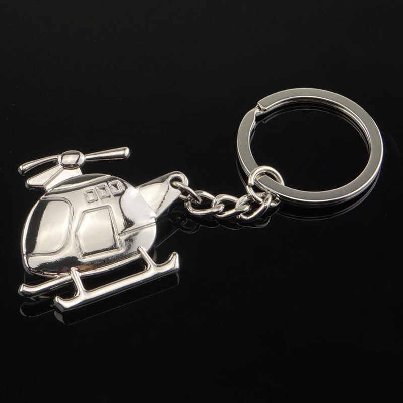 New Arrival Helicopter Key Chain Plane Helicopter Key Ring Creative Helicopter Metal Key Chain Civil Aviation Pendant