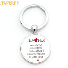 TAFREE 2017 new teachers gifts great teacher keychain teaching is a work of heart key chain ring holder men women jewelry CT671