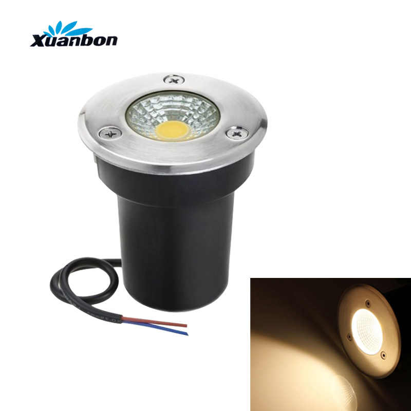Free Shipping AC85-265V IP66 DC12V 5W 10W  Buried Lamp Inground Lighting Outdoor COB LED Underground Lamp Light