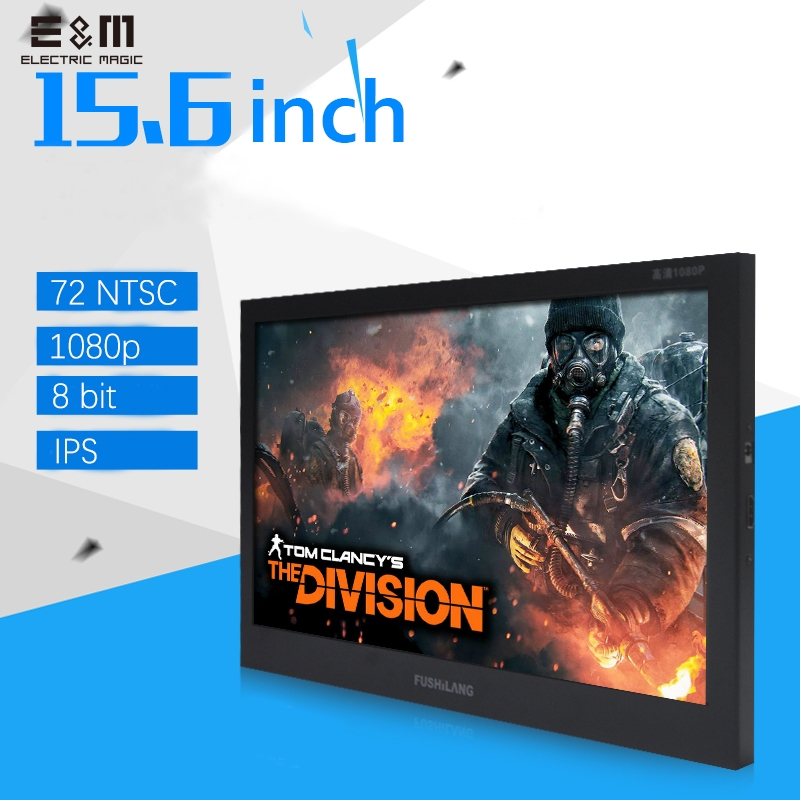 HDR 15.6 Inch 1920*1080 IPS LCD Monitor Speaker Aerial Screen 8bit Portable Game Display Mac Mini HDMI Car MP4 Player Xb PS4