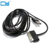 30pin usb charger data kabel voor Samsung P7510/P3100/Galaxy Tab2 Galaxy Tab 10.1/P7100/Tab 8.9 Tab 7.7/P6800/Tab 7 P6202 1 m/2 m(China)