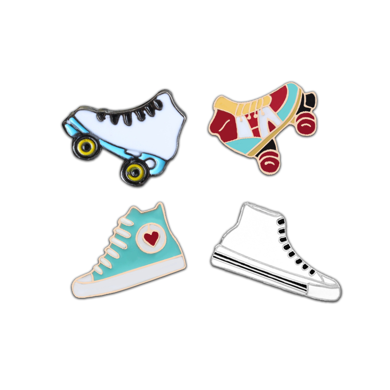 Arts,crafts & Sewing Hard-Working Roller Skates Lapel Pin Badges For Clothes Skating Shoes Rozety Papierowe Icon Backpack 1pcs Xy0326