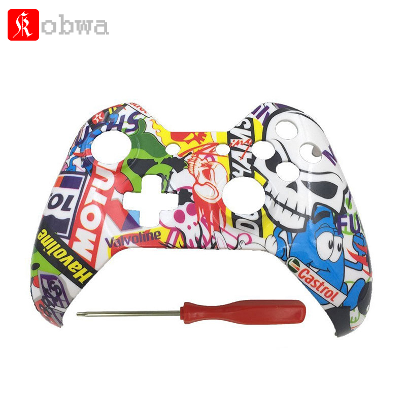 Front Housing Shell Cover Skin for Xbox One Games Upper Case Replacement Parts Compatible for Modded Xbox one Wired Controller