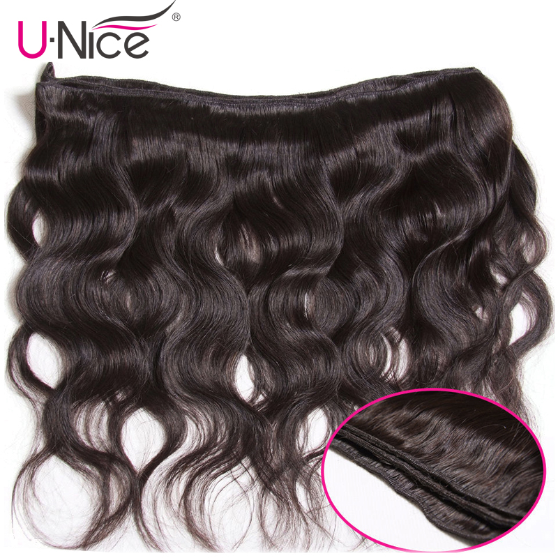 UNICE HAIR Brazilian Body Wave Hair Weave Bundles Natural Color 100% Human Hair weaving 1/3 Piece 8-30inch Remy Hair Extension 3