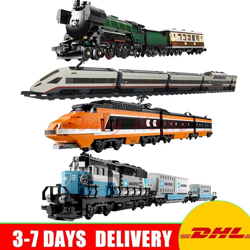 2018 DHL Lepin 21005+21006+ 21007+ 02010 Genuine Technic Ultimate Series The Maersk Train Set Building Blocks Bricks Educational