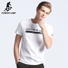 Pioneer Camp New short sleeve T shirt men brand clothing fashion printed white T-shirt male quality 100% cotton Tees ADT702182
