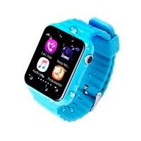 Orijinal V7K Çocuklar Oğlan Kız için GPS Bluetooth Akıllı Izle Apple Android Telefon Destek SIM/TF Dial Çağrı ve Itin mesaj