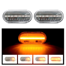 Flowing Water Car Side Marker Light Blinker Amber Smoke LED Dynamic Turn Signal Lamp for VW Bora Golf 3 4 Passat 3BG Polo SB6