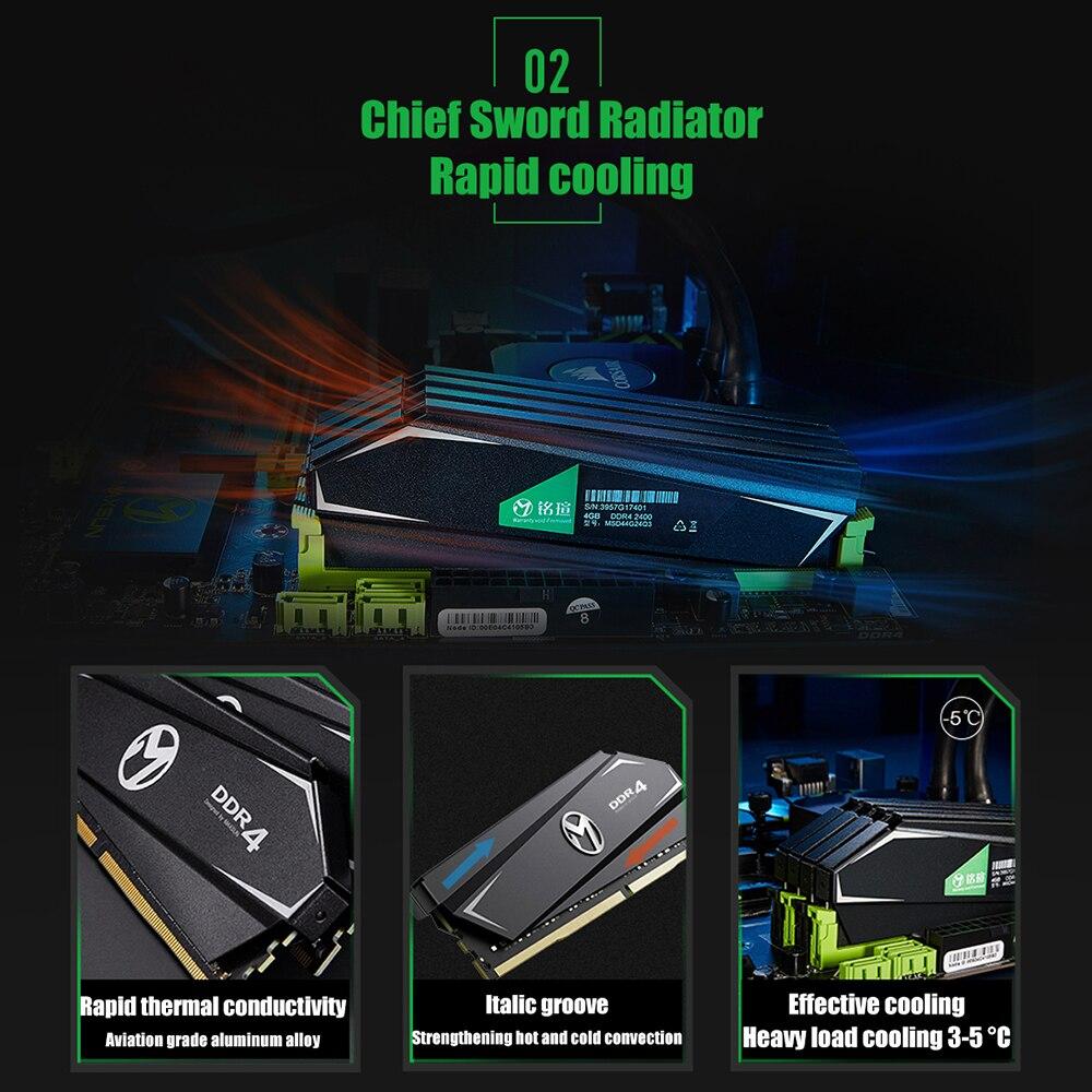 MAXSUN ram ddr4 8GB/16GB Desktop RAMs 4gb Memory 2400MHz memory voltage 1.2V Lifetime Warranty 288pin Flash Single effective RAM 2