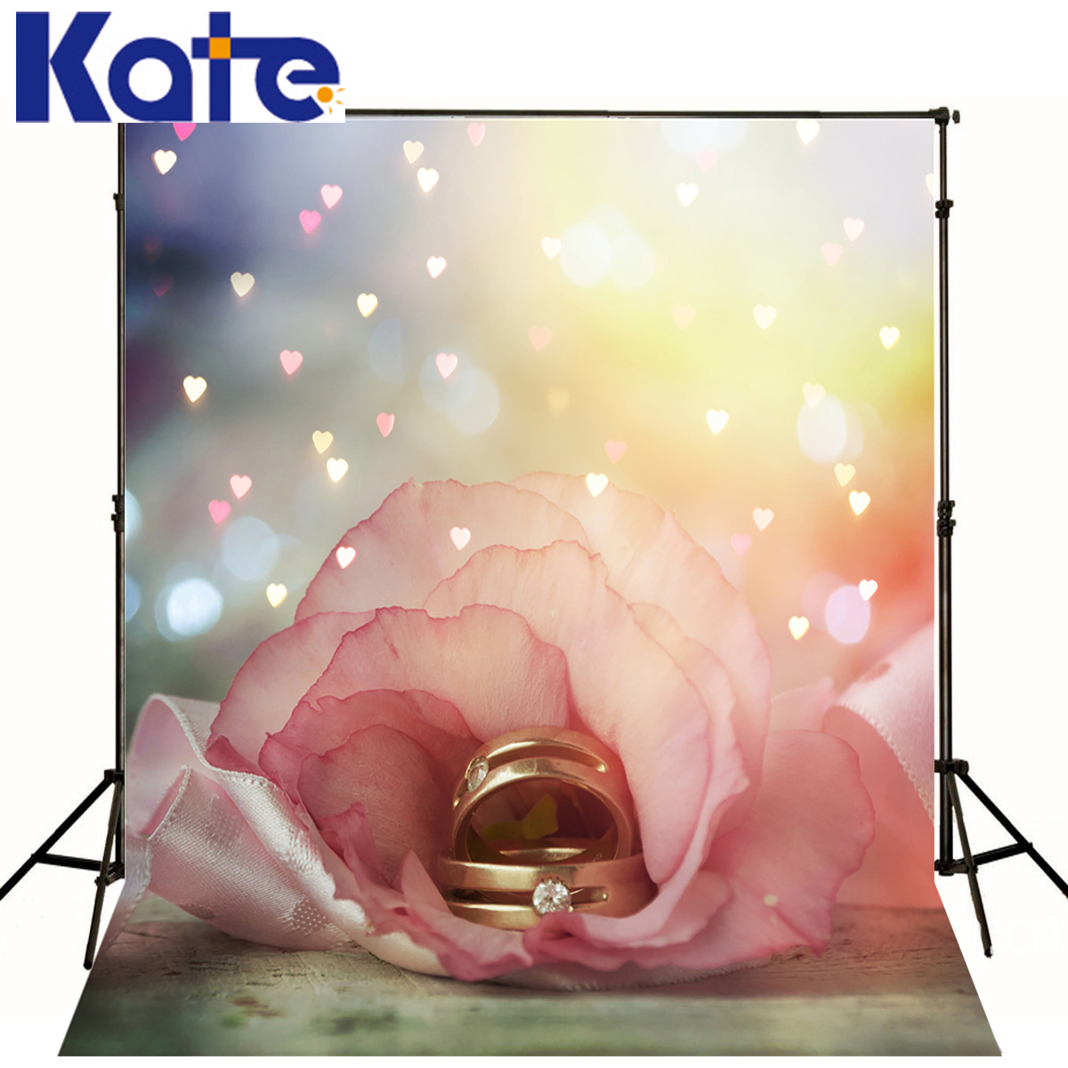kate Photographic background Love flower ring props No creasesbackdrops baby newborn 8 x 8 ft