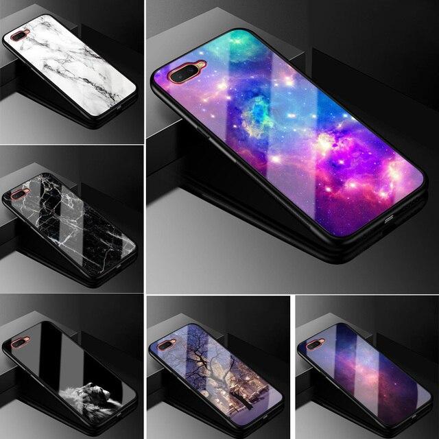 For Coque Oppo RX17 Neo Case Tempered Glass Hard Back Cover For OPPO RX17 Neo CPH1893 RX17Neo RX 17 Neo Case Silicone Bumper