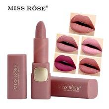 Miss Rose Matte Lipstick Cosmetics Makeup Waterproof Lips Moisturizing Easy To W