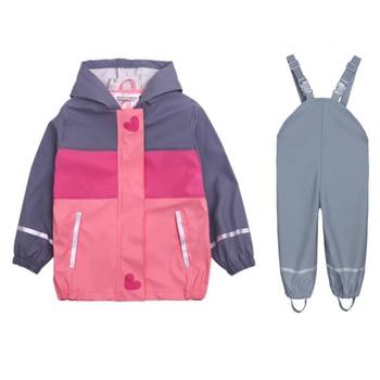 2019 spring new children's children's girls waterproof windproof cold raincoat poncho outdoor jacket rain gear