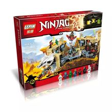2016 New LEPIN 06039 1351Pcs Phantom Ninja Samurai X Cave Chaos Model Building Kit Minifigure Blocks Bricks Toy Compatible Legoe