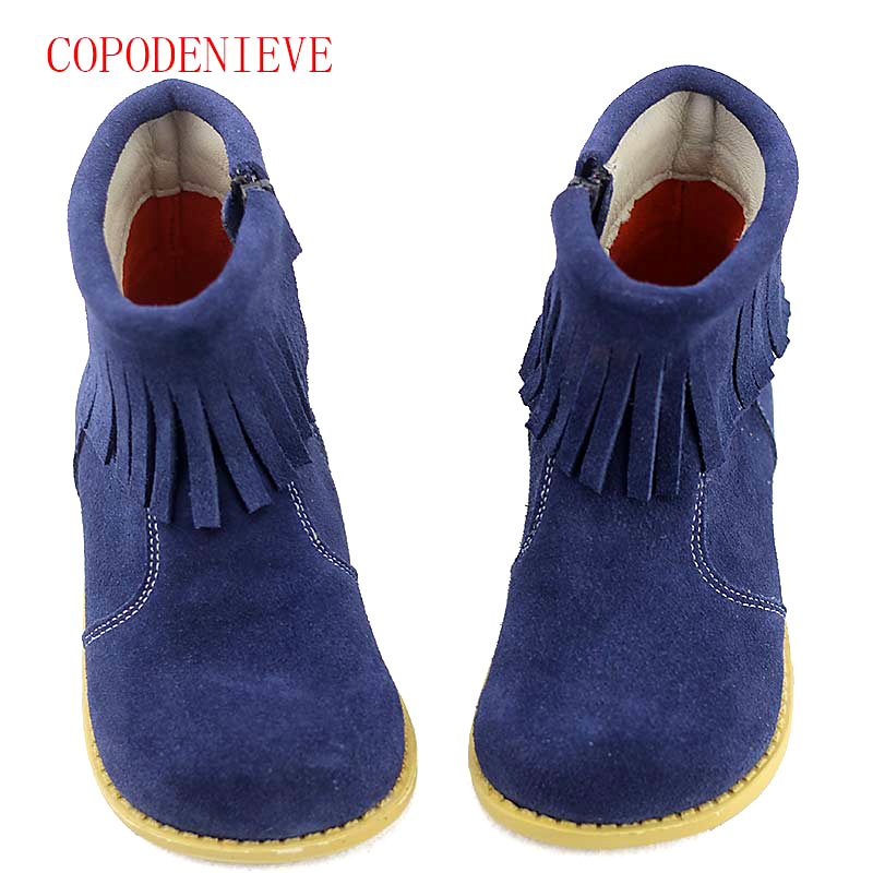 Image 5 - Winter warm boots for girls children's shoes girls snow boots girl baby fringe boots kids martin boots warm shoes-in Boots from Mother & Kids