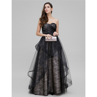 TS Couture A Line Princess Sweetheart Floor Length Lace Prom Formal Evening Dress With Lace Criss