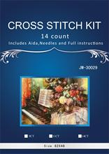 62-44 Needlework Craft Full Embroidery DIY French DMC Quality Counted Cross Stitch Kit 14 ct Oil painting Piano Sonata