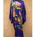 High Fashion Blue Lady Rayon Bath Gown Classic Style Robe Novelty Yukata Nightgown Dropshipping&Free Shipping One Size NS0044