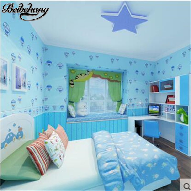 beibehang High-grade cute child hot air balloon non-woven AB with boy girl princess bedroom bedroom wallpaper  papel de parede настольная лампа декоративная maytoni luciano arm587 11 r