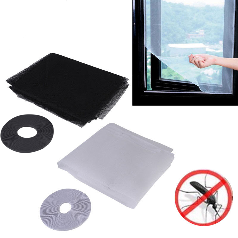 DIY Self-adhesive Sticker Window Mesh Door Curtain Snap Net Guard Mosquito Fly Bug Insect E2S