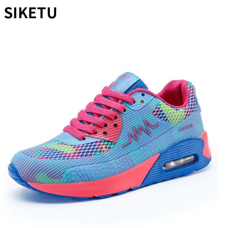 2018 Women sneakers fashion women casual plat shoes light weight breathable tenis feminino women vulcanize shoes Chaussure Femme