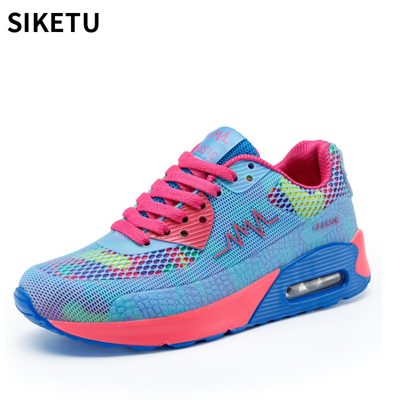 2018 Women sneakers fashion women casual plat shoes light weight breathable tenis feminino women vulcanize shoes Chaussure Femme