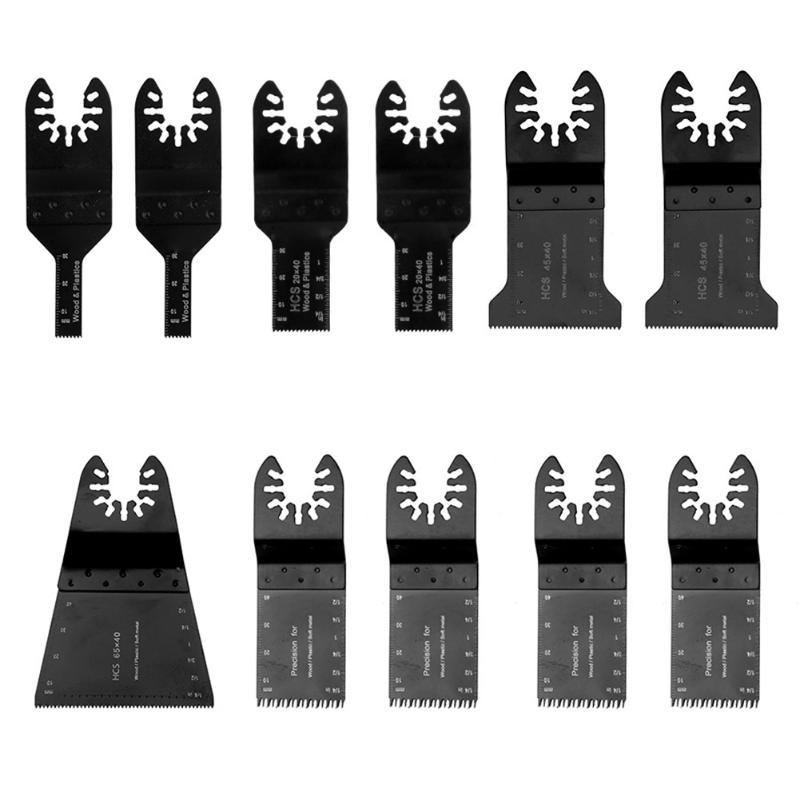 11 unids/set herramienta oscilante Hojas de sierra Accesorios para herramientas eléctricas MultiMaster para Fein dremel oscilante Sierras
