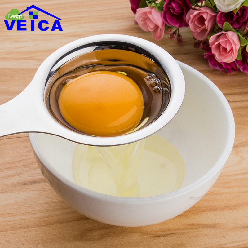 1Pcs Eco Friendly Good Quality Egg Yolk White Separator Egg Divider Eggs <font><b>Tools</b></font> Stainless steel Material <font><b>Kitchen</b></font> <font><b>Tool</b></font> image