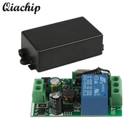 QIACHIP Universal 433 MHz AC 220V 1 CH Fernbedienung Schalter Mini Niedrigeren Relais Empfänger Modul Licht Lampe Garage türöffner Z30