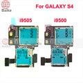 Para samsung galaxy s4 siv i9500 i9505 conector do leitor de cartão sim tray titular slot de memória soquete flex cable