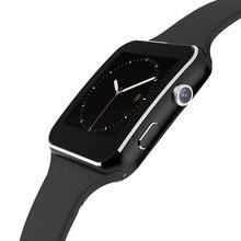 Gebogene bildschirm bluetooth smart watch x6s uhr smartwatch mode uhr für android-handy mit kamera unterstützung sim-karte armbanduhr