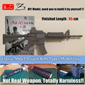 2017 New Classic SWAT M4A1 Carbine Assault Rifle 1:1 Scale 3D Paper Model Kid Adults' Cosplay weapon toy props Handmade Toys