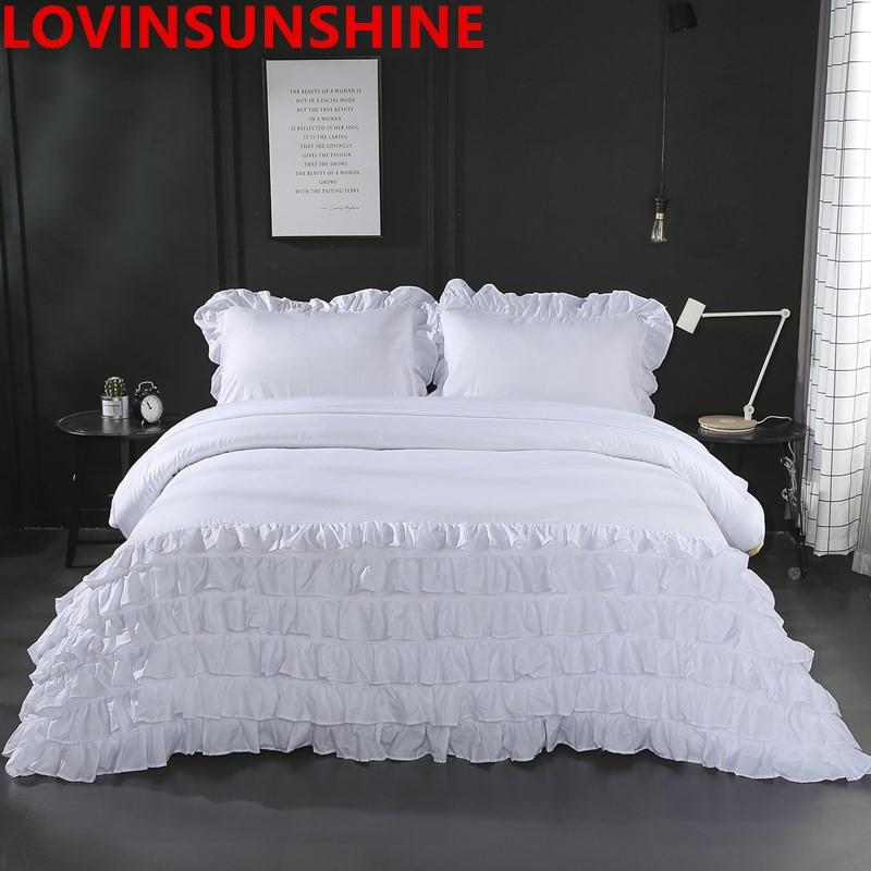 LOVINSUNSHINE Ruched Duvet bedding Set Luxurious Wrinkle soft Pillow cases Set King Queen Size Comforter Cover 3pcs Bed LiningsLOVINSUNSHINE Ruched Duvet bedding Set Luxurious Wrinkle soft Pillow cases Set King Queen Size Comforter Cover 3pcs Bed Linings